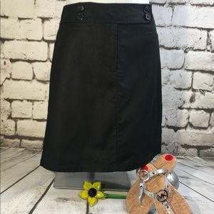 NEW Ann Taylor Black Stretch Mini Skirt Sz 6